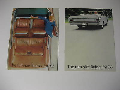 1963 Oldsmobile Full Size and Trim Size Brochures.....Lot of Two