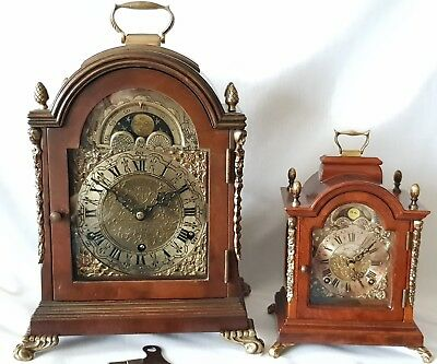 Bracket Westminster Clock English Pendulum Antique British Made Moonphase 47cm
