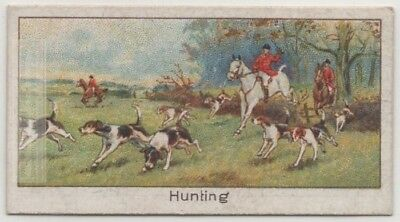 Fox Hunting With Hounds Dogs 1920s Trade Ad Card