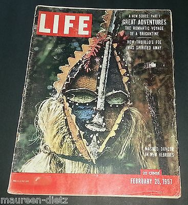 February 25, 1957 LIFE Magazine Whales Ad 50s Advertising FREE SHIPPING Feb 2