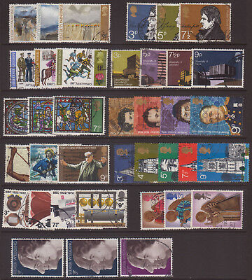 LOT#350n - GB QEII COLLECTION; COMPLETE COMMEMORATIVE YEAR SETS for 1971&72 USED