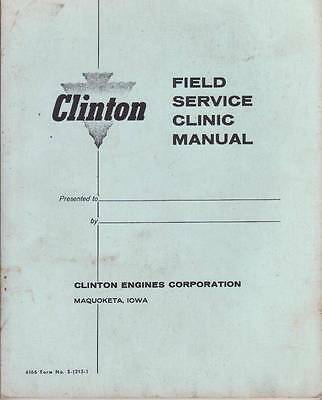 Clinton Engines Field Service Clinic Manual