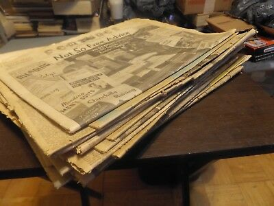 HUGE Lot of OLD Newspapers -FROM AUCTION -MOST FROM VA & WV--APPEAR COMPLETE ??
