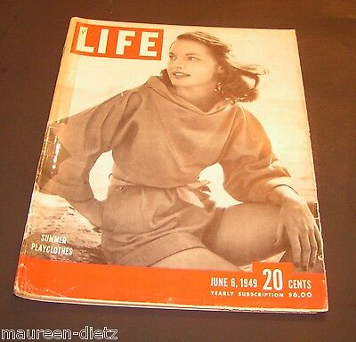 June 6, 1949 LIFE Magazine Complete w/ 40s ads Pics History Ad 5  FREE SHIPPING