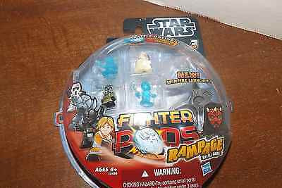 STAR WARS Fighter pods rampage , Hasbro NEW Sealed, 4 figs + spinfire launcher