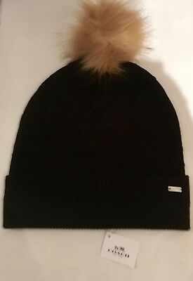 6a28a149114 NWT COACH EMBOSSED Knit Hat Beanie Black MSRP  95  F32713 -  39.99 ...