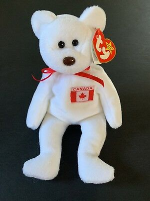 fb3539ce8ce NEW TY BEANIE Baby Maple The Bear 1996 PE Canadian Tush Tag MWMT ...