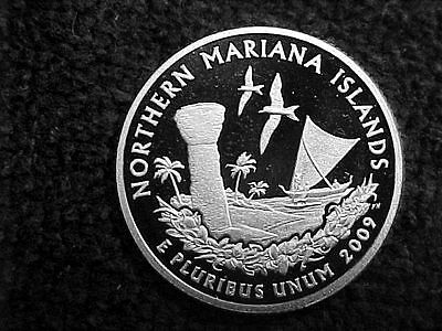 2009 S Silver Northern Mariana Islands  Quarter From Silver Proof Set
