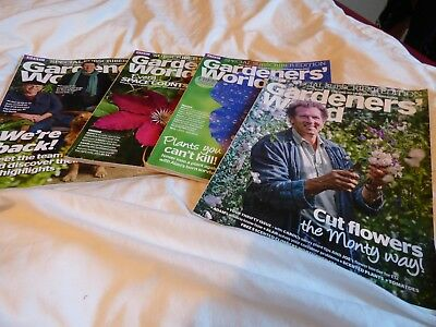 GARDENERS' WORLD - JOB LOT / SET / COLLECTION x 4 ISSUES FROM 2018 (MONTY DON)