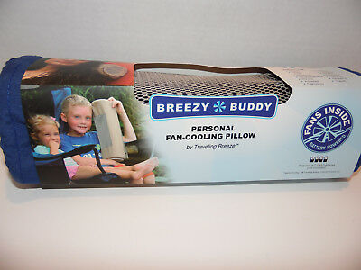 Breezy Buddy Personal Fan-Cooling Pillow Blue New in Pkg. Nice Gift for traveler