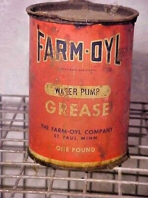 Vintage Old Antique Farm Oyl Water Pump Grease Oil Can Gas Station Man Cave Sign