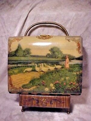 Vintage Old Antique Celluloid Photo Album Cabinet Cards Victorian Girl Geese