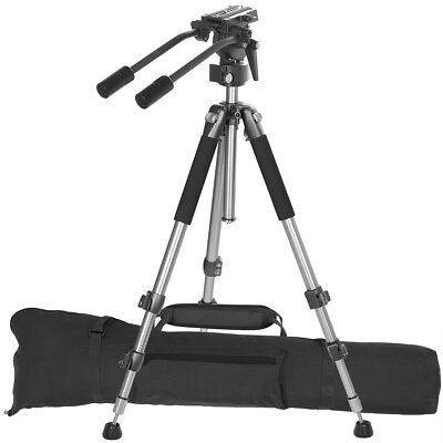 "Pro Heavyduty Lightweight Fluid Drag Head Pan SLR DSLR Video 67"" Tripod System"