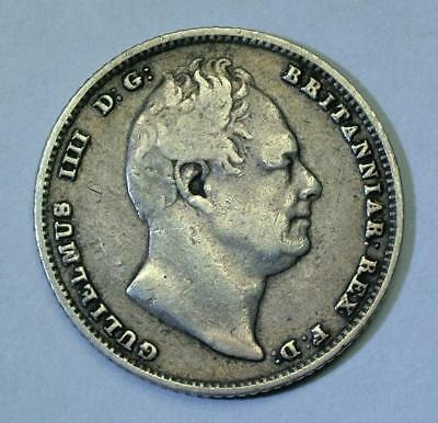 William Iiii / Iv 1834 Silver Sixpence Coin - Lot 6