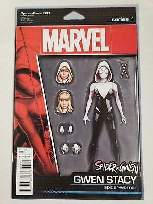 Spider-Gwen #1 (2015) Marvel Comics Action Figure Variant Cover! 1St Print! Nm