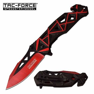 TAC FORCE Tactical SPRING ASSISTED Open Folding Pocket Knife New Red TF-940BR a