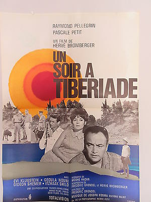 Old 1966 French Movie Poster Un Soir a Tiberiade Herve Bromberger
