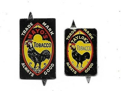 Vintage Mayo's Tobacco Tags....2 Different