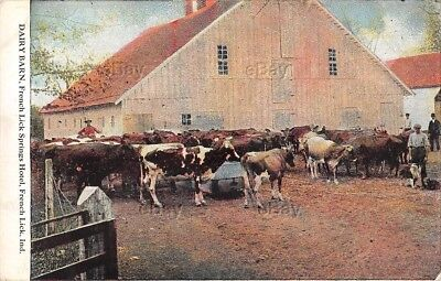 Indiana Postcard French Lick Springs Hotel Farm Dairy Barn West Baden 1909 Ind