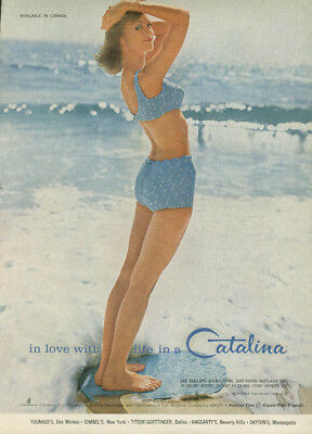 In love with life in a Catalina Swimsuit ad 1965 Sea Scallops 2-piece