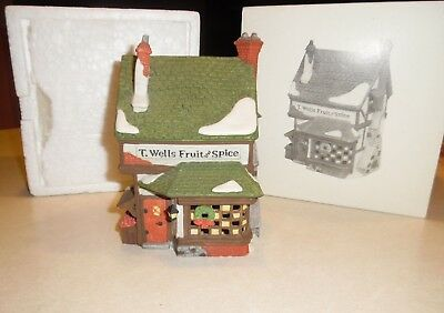 Dept. 56 Heritage Village Dickens T. Wells Fruit and Spice Shop in Box