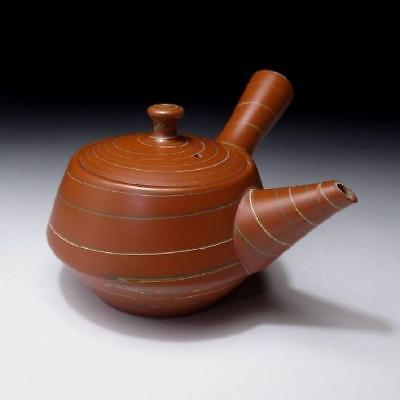 ZB8: Vintage Japanese Unglazed Tea Pot for Sencha, Tokoname ware