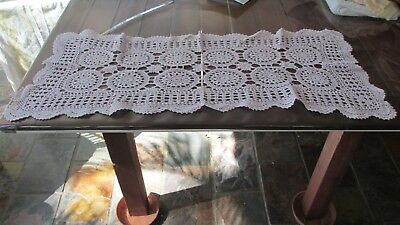 Vintage Lace pretty Pale Pink Table Runner 92 cms x 42cms across,
