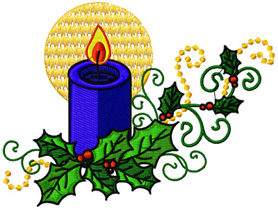 Christmas Candles 10 Machine Embroidery Designs Cd 4 Sizes