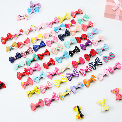 20PC Kids Baby Bowtie Hair Clip Girl Children Toddler Flower Accessories Hairpin