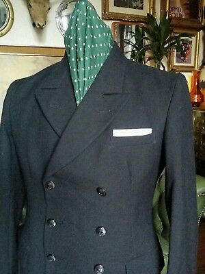 Vintage 60's Satorial Modernist Mod Jazz Double Breasted Dandy Jacket.Medium vgc