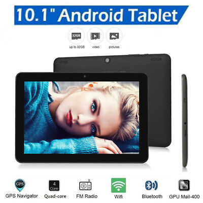 """UK 10.1"""" Inch Tablet PC Android 6.0 Quad-core Google 32GB Wifi Dual Camera GPS"""