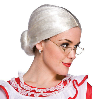 Ladies Mrs Santa Claus Wig Outfit Accessory for Fancy Dress Womens