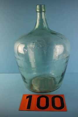 Alter  Glasballon  Mit Abriss  Transparent  15 Liter Nr  100