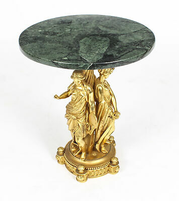 Antique Figural Group Ormolu & Marble Occasional Table 19th Century