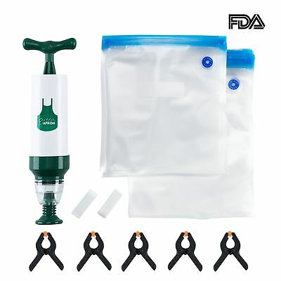 Sous Vide Bags Kit for Anova, Joule and all Popular Brands - 20 Reusable BPA FRE