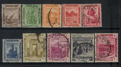 Egypt 1914 Defins Used Set Of 10