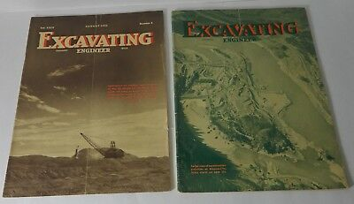 2 MAY AUGUST 1935 EXCAVATING ENGINEER BUCYRUS ERIE MAGAZINE Vol XXIX No 8 & 5
