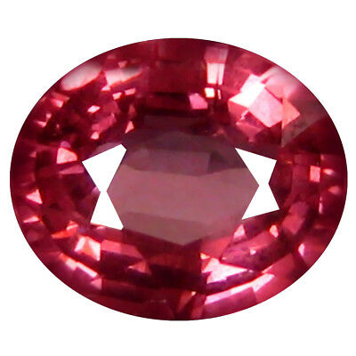 1.07 Ct AAA+ Charmantes Forme Ovale (7 X 6 mm) Rosé Rouge Grenade Rhodolite