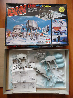 Star Wars The Empire Strikes Back Airfix Battle on Ice Planet Hoth; boxed set