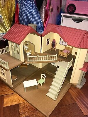 Sylvanian Families Beechwood Hall with odd bits of furniture