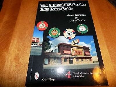 THE OFFICIAL U.S. CASINO CHIP PRICE GUIDE Poker Chips Collector 4th Ed. Book