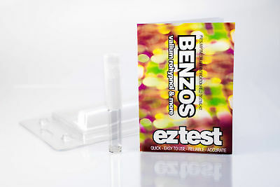 EZ Benzos Single Use Drug Testing Kit (1test) determine Valium Rohypnol Cocaine
