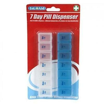 2x Weekly Pill Box Tablet Medication Medicine Reminder Daily Organiser 7 day