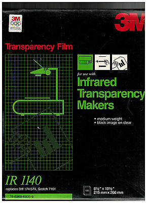 3M Ir1170 Transparency Film For Infrared Transparency Makers Medium  Weight New
