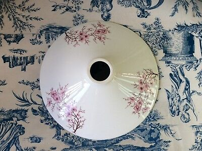 Large Vintage French Style White, Pink Floral Detail Ceramic Light shade (941)