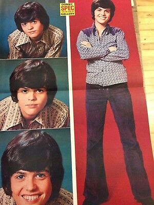 Donny Osmond, Osmonds Brothers, Double Two Page Centerfold Poster
