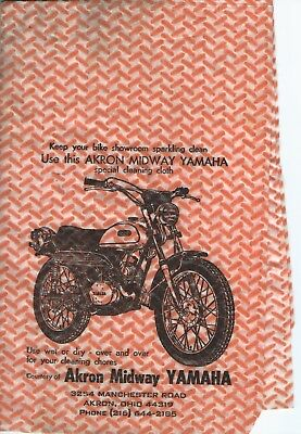 Akron Ohio Midway Yamaha Wipe Cloth With Dt1 250 Print 1968  New 54 Years Dealer