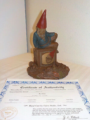 "Tom Clark Gnome Figurine ""telly"" Sittting On A Television Hand Signed 1983 W/coa"