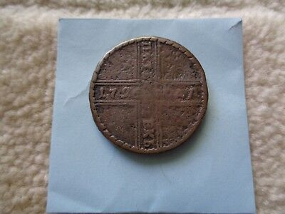 Scarce 1726 Russia 5 Kopeck copper coin