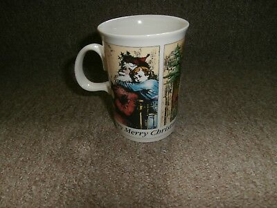 Dunoon Stoneware  Mug 'christmas Cheer' Adapted From Victorian Illustrations